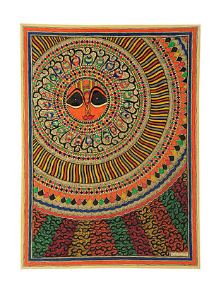 Sun Madhubani Painting (29.5in x 21.5in)