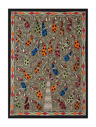 Tree of Life Madhubani Painting (29in x 20.6in)