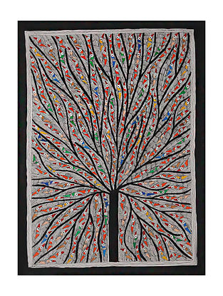 Tree of Life Madhubani Painting (28.2in x 20.2in)