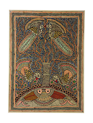 Tree of Life Madhubani Painting (29.5in x 21.6in)