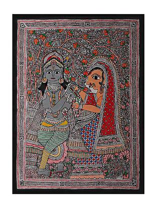Radha Krishna Madhubani Painting (29in x 21in)