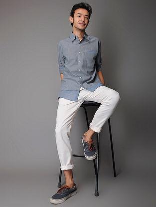 Blue Handloom Cotton Shirt
