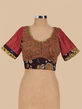 Multicolored Hand Painted Kalamkari Cotton Blouse