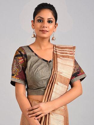 Grey Hand Painted Kalamkari Cotton Blouse