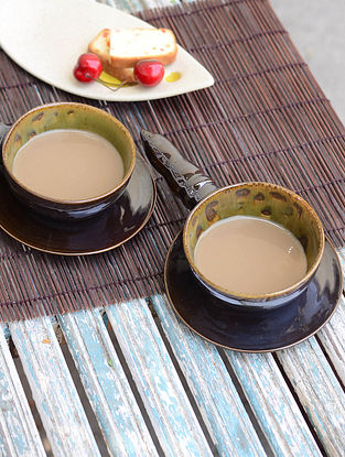 Pagoda Handle Soup Cup-Set of 2 9.5in x 5.7in x 2.3in