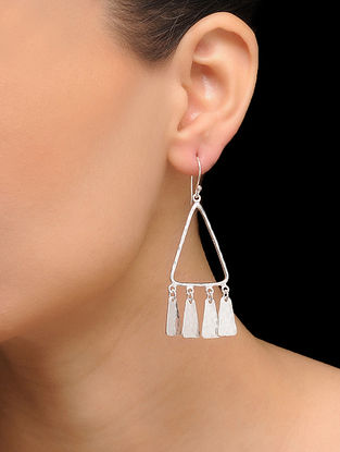 Classic Silver Tone Brass Earrings