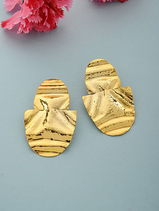 Classic Gold Plated Brass Earrings