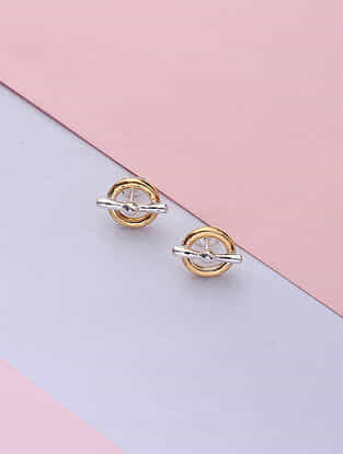 Dual Gold Tone Handcrafted Earrings