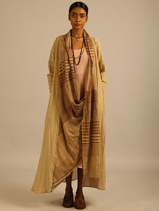 Olive Green Handwoven Cotton Mul Wrap