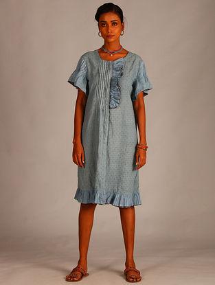 Blue Cotton Dobby Tunic
