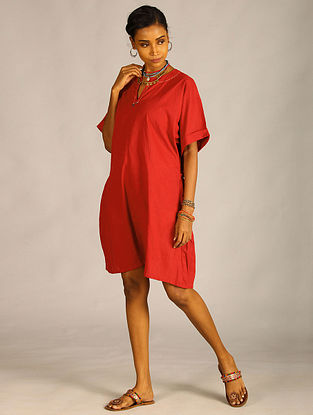 Maroon Cotton Dress