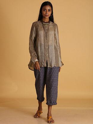 Camel Handwoven Linen Top