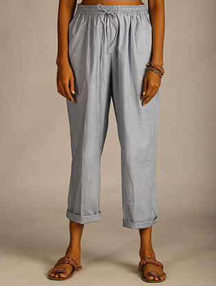 French Blue Cotton Pants