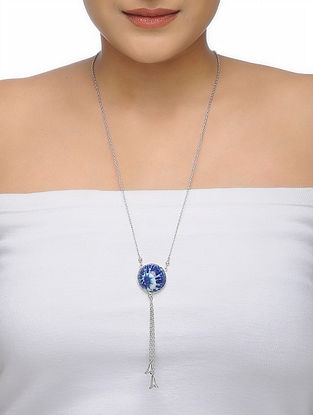 Blue-White Chain with Ceramic Pendant