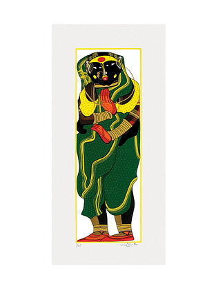 Thota Vaikuntams Limited Edition Untitled Serigraph on Paper - 30in x 14in