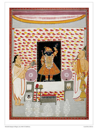 Shrinathji Shringar in Phagun Digital Print on Paper (16.5in x 12.5in)