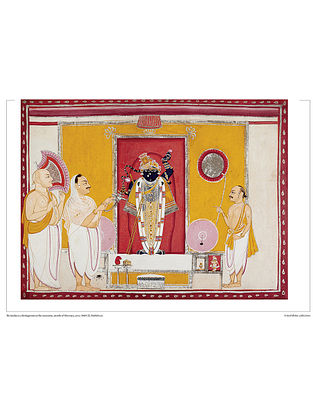 Shrinathji as a Bridegroom Digital Print on Paper (12.5in x 16.5in)