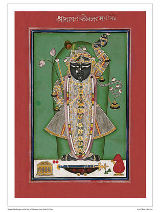 Shrinathji Shringar on the Day of Dussera Digital Print on Paper (16.5in x 12.5in)