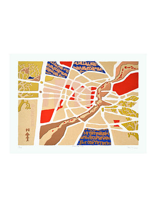 Rajesh Sagaras Limited Edition Deserted City Serigraph On Paper (22in x 30in)