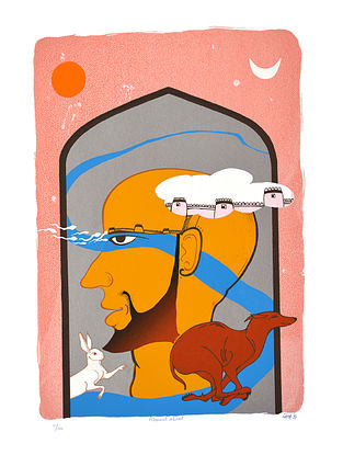 Milan Desais Limited Edition Ahmed abad Serigraph On Paper (30in x 22in)
