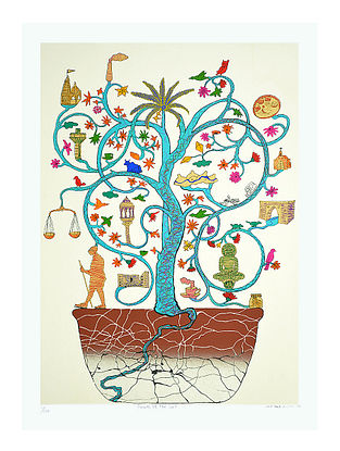 Karl Antaos Limited Edition Fruits of the Soil Serigraph On Paper (30in x 22in)