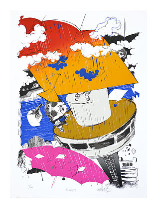 Nabibakhsh Mansooris Limited Edition Daring Serigraph On Paper (30in x 22in)