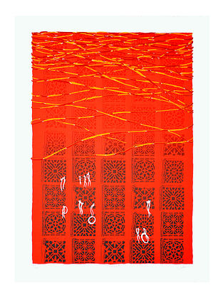 Samvedana Vaishyas Limited Edition Mannat Serigraph On Paper (30in x 22in)