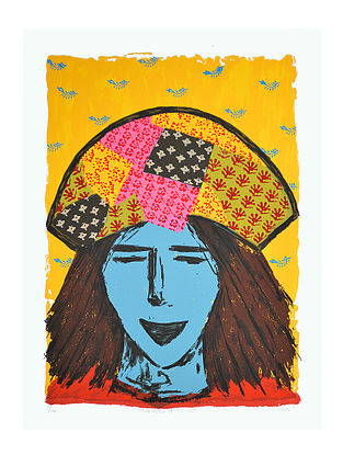 Bharvi Trivedis Limited Edition Manchester of the East Serigraph On Paper (30in x 22in)