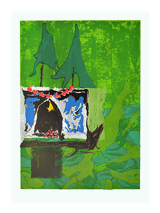 Roma Patels Limited Edition Hasti Bibi no Gokhlo Serigraph On Paper (30in x 22in)