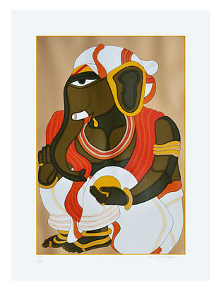 Thota Vaikuntams Limited Edition Ganesh Serigraph On Paper (40in x 30in)