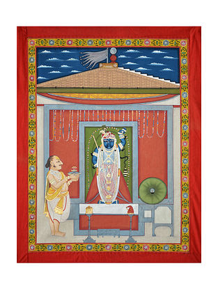 Shreenathji Pichwai Painting (31.5in x 25in)