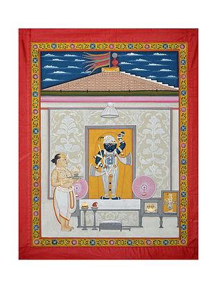 Shreenathji Pichwai Painting (32.5in x 25in)