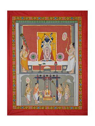Shreenathji Pichwai Painting (32.25in x 25.25in)