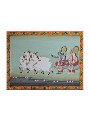 Krishna-Balaram Pichwai Painting (21in x 28in)