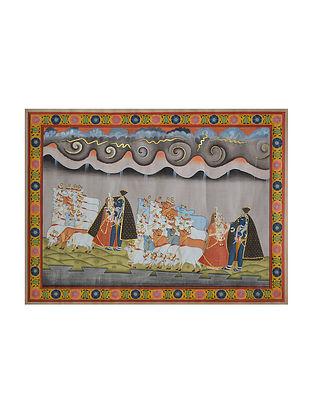 Radha-Krishna Pichwai Painting (19.25in x 25.5in)