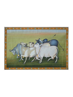 Cows Pichwai Painting (24in x 36in)