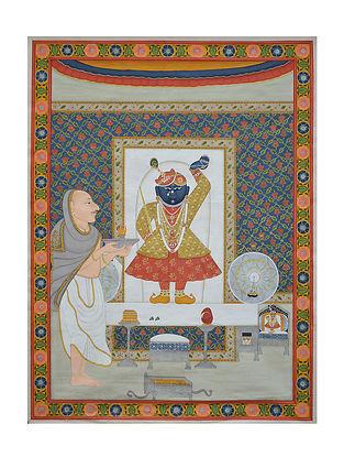 Shreenathji Pichwai Painting (29in x 22in)