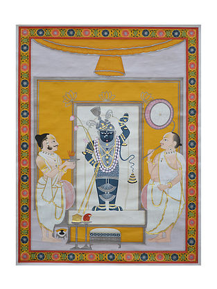 Shreenathji Pichwai Painting (28.5in x 22in)