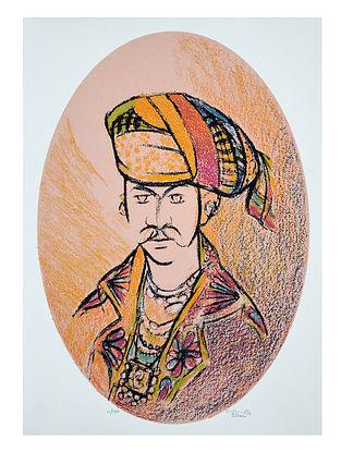 Vrindavan Solankis Serigraph on Paper (28in x 20in)