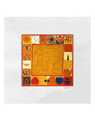 S H Razas Rasa Serigraph on Paper (20in x 20in)