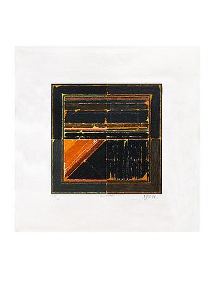 S H Razas La Terre Serigraph on Paper (20in x 20in)