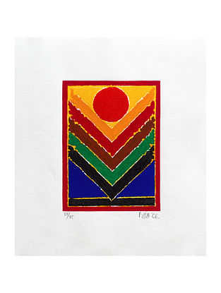 S H Razas Untitled Serigraph on Paper (20in x 20in)