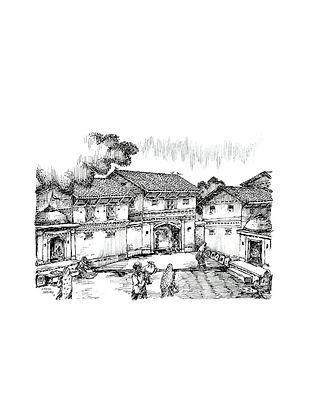 Natu Mistry Virasat Ink on Paper (22in x 30in)