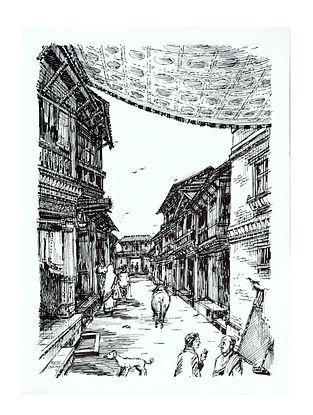 Natu Mistry Udvada Ink on Paper (30in x 22in)