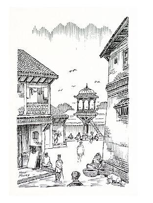 Natu Mistry Chabutaro Ink on Paper (22in x 15in)