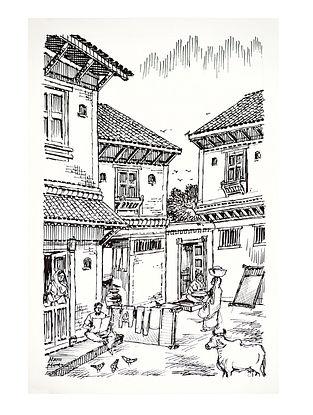 Natu Mistry Otla Ink on Paper (22in x 15in)