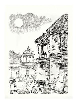 Natu Mistry Chabutaro Ink on Paper (30in x 22in)