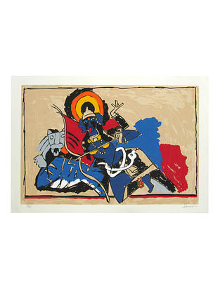 Kali Multicolor Serigraph on Paper (21in x 30in)
