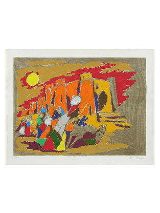 Golden Fort- Jaisalmer Multicolor Serigraph on Paper (26in x 34in)