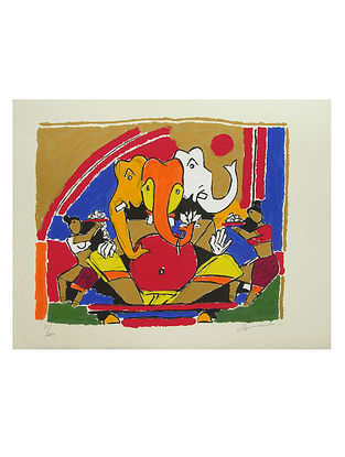Ganesh Multicolor Serigraph on Paper (22in x 28in)